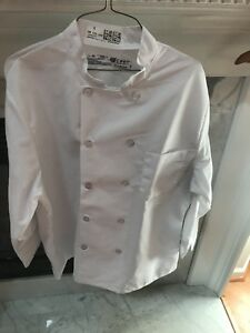 Chef Designs Eight Knot Button Chef Coat With Thermometer Pocket White Large
