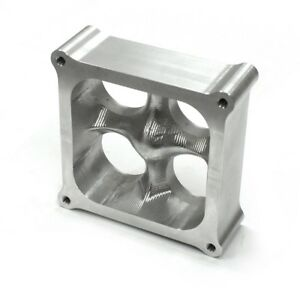 Holley 4500 Cnc Billet Aluminum 2 Silver Square Bore 4 Port Tapered Spacer