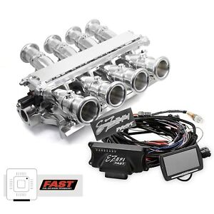 Small Block Ford 351w Polished Sidedraft Fast Ez Efi 2 0 Fuel Injection System