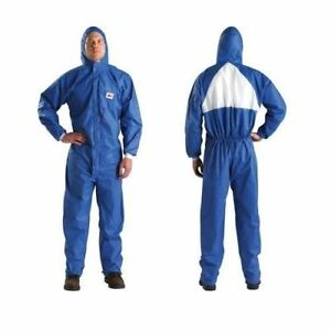 Case Of 25 3m 4530 Blk Disposable Protective Coverall Safety Work Wear Medium