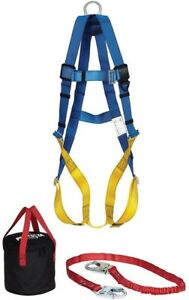 Aerial Lift Fall Protection Safety Gear Accessory Kit Universal Harness Lanyard