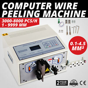 Computer Wire Peeling Stripping Cutting Machine 0 1 4 5mm Automatic 4 Wheels