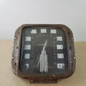 Vintage Stewart Warner Square Speedometer Gauge Hot Rod Hudson Ford Tractor