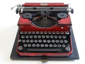 Antique 1930 s Royal Portable Red Typewriter Case