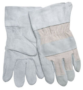 1 Dozen Memphis Split Shoulder Leather Work Gloves Large