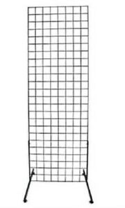 Gridwall Panels 2 X 6 Set Of 4 Grid Wall Display Black Panel Steel 8 Legs