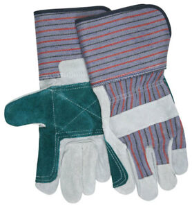 1 Dozen Memphis Select Shoulder Double Palm Leather Work Gloves Large