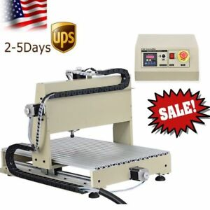 4axis Cnc Mini Diy 6040 Router Kit 1 5kw Wood Cutting Engraving Machine Mach3