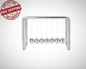 7 Balls Newtons Cradle Stainless Steel Strings Office Decoration Desk Brand New