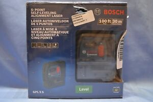 New Bosch Gpl 5 S 5 point Self leveling Alignment Laser 100ft 30m