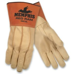 1 Dozen Memphis Red Ram Welding Leather Work Gloves Large