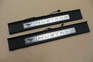 2015 2017 Ford Mustang my Color Scuff Plates Interior Trim Black Oem