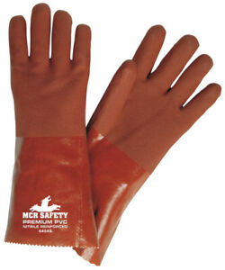 1 Dozen Memphis Premium Double Dipped Pvc Work Gloves Large