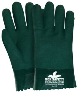 1 Dozen Memphis Double Dipped Pvc Coated Work Gloves Large