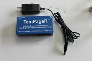 Avtech Tempager Temperature Monitor With Power Supply 4e