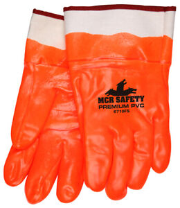 12 Pairs Mcr Safety Premium Foam Lined Pvc Work Gloves Large