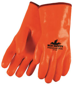 1 Dozen Memphis Premium Foam Lined Pvc Work Gloves Large