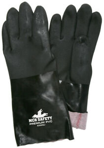 1 Dozen Memphis Double Dipped Sandy Pvc Work Gloves Large