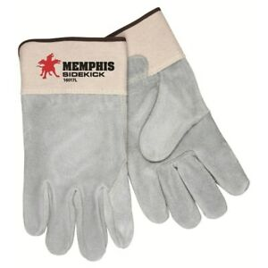 1 Dozen Memphis Sidekick Select Side Leather Work Gloves Large