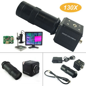 Tv Set Industrial Microscope Camera Ccd Mount 40ma Black Zoom c Professional