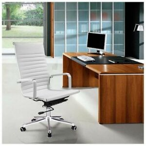 Executive High Back Desk Chair Leather Swivel Office Contemporary Multi Colors