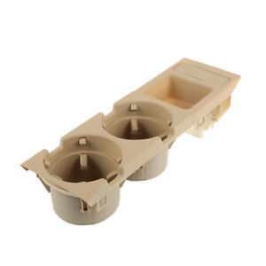 For Bmw 3 Series E46 Cup Drink Holder Coin Holder Tray Center Console Beige V1r