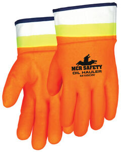 12 Pairs Mcr Safety Hi Vis Double Dipped Pvc Work Gloves Large