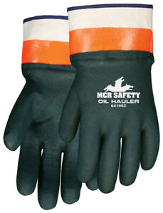1 Dozen Memphis Oil Hauler Double Dipped Pvc Work Gloves Large