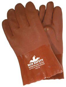 1 Dozen Memphis Premium Pvc Coated Work Gloves Large