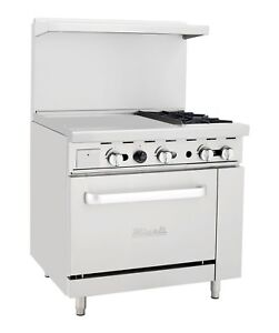 Migali C ro2 24gl 2 Burner Range Oven With 24 Griddle Natural Gas