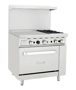 Migali C ro2 24gl 2 Burner Range Oven With 24 Griddle Liquid Propane