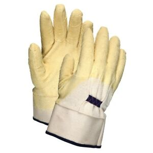 12 Pairs Mcr Safety Rubber Coated Palm Work Gloves Large