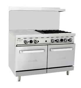 Migali C ro4 24gl 4 Burner Range Oven With 24 Griddle Natural Gas