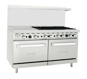 Migali C ro6 24gl 6 Burner Range Oven With 24 Griddle Liquid Propane