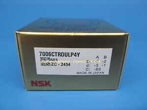 Nsk 7006ctrdulp4y Abec 7 Super Precision Spindle Bearings set Of Two