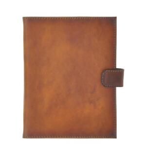 Pratesi Italian Leather Andrea Del Sarto Portfolio Notepad Holder In Brown