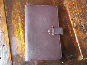 Vintage Burgundy Leather Organizer Planner With Separate Wallet Card Holders