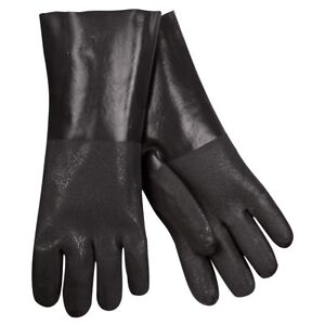 12 Pairs Mcr Safety Double Dipped Sandy Pvc Work Gloves Large