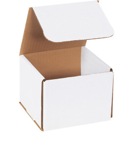 100 Pack 5x5x5 White Corrugated Shipping Mailer Packing Box Boxes 5 X 5 X 5