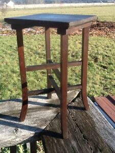 Vintage Mission Style Plant Stand Arts And Crafts Small Table Furniture
