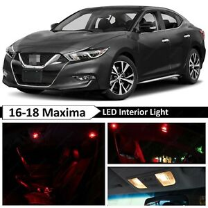 11x Red Interior License Plate Led Light Package Kit Fit 2018 Nissan Maxima