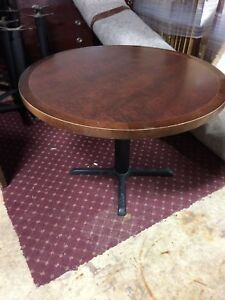 Commercial Grade Wood Laminated Restaurant Tables 42 W Round