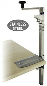 Boj Commercial Grade Manual Can Opener With Angled Bar stainless Steel Medium