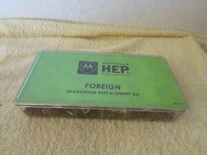 Vintage New Motorola Hep Foreign Replacement Transistor Kit Nos