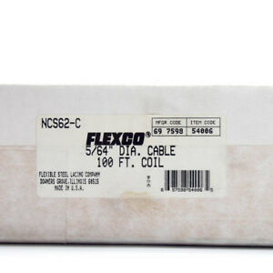 Flexco Ncs62 c Nylon Covered Stainless Steel Cable Hinge Pin 5 64 X 100 Ft