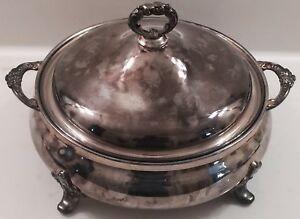 Ecpa Silverplate By Poole 818 Large Soup Tureen