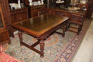 American Berkey Gay Renaissance Mahogany Narrow Extendable Dining Room Table