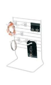 6 Countertop Peg Displays Wire Rack Jewelry Card Hanging White Stand 8 X 8