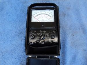 Simpson Model 260 Series 5m Volt Ohm Meter With Nice Leather Case