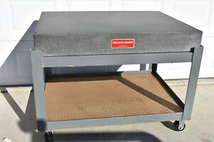 Used Precision Granite Surface Plate 48 X 36 X 6 Slot Stand